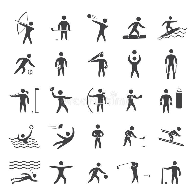 Sylwetek postacie atlety ilustracja wektor