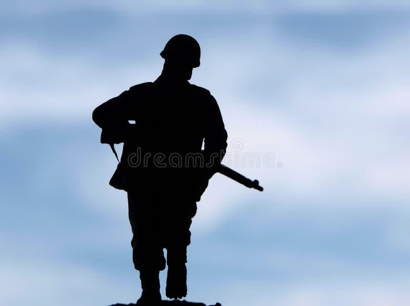 sylwetka żołnierz zdjęcia royalty free