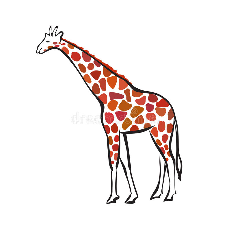 Sylwetka żyrafa ilustracja wektor