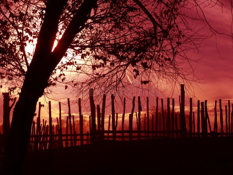 Download Sylwetka zdjęcie stock. Obraz złożonej z czerwień, krajobrazy - 39168