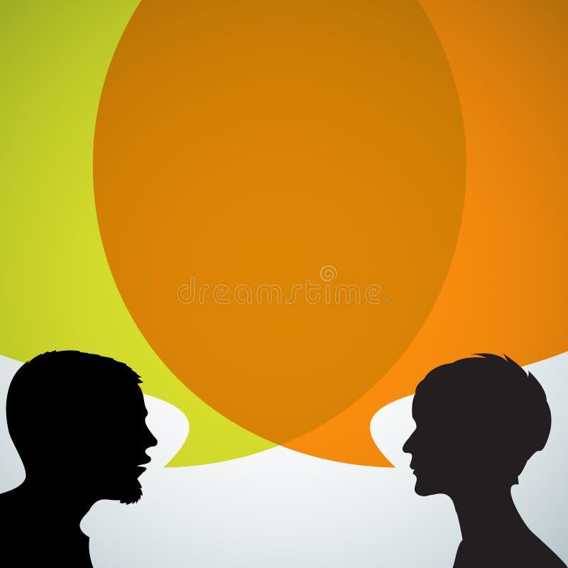 sylwetka abstrakcjonistyczni mówcy ilustracji