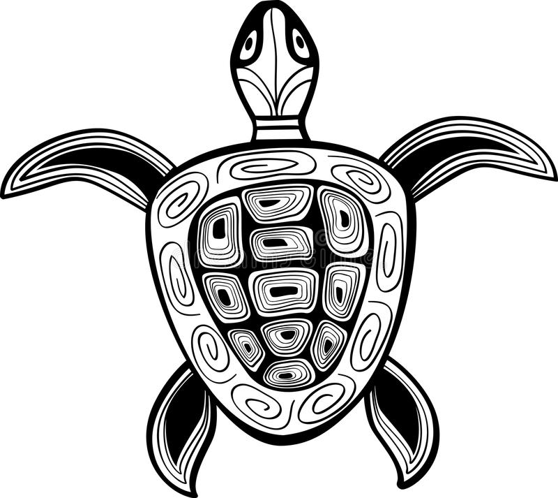 sylwetka abstrakcjonistyczny żółw royalty ilustracja