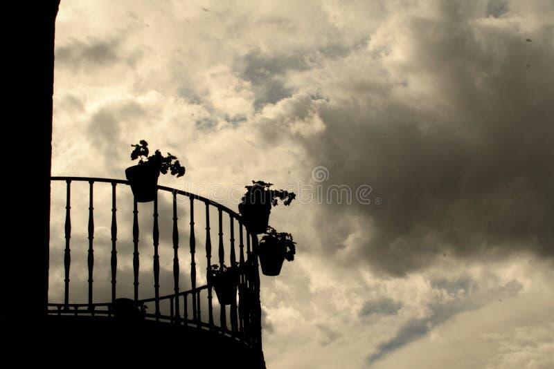 sylwetka balkonowa fotografia royalty free