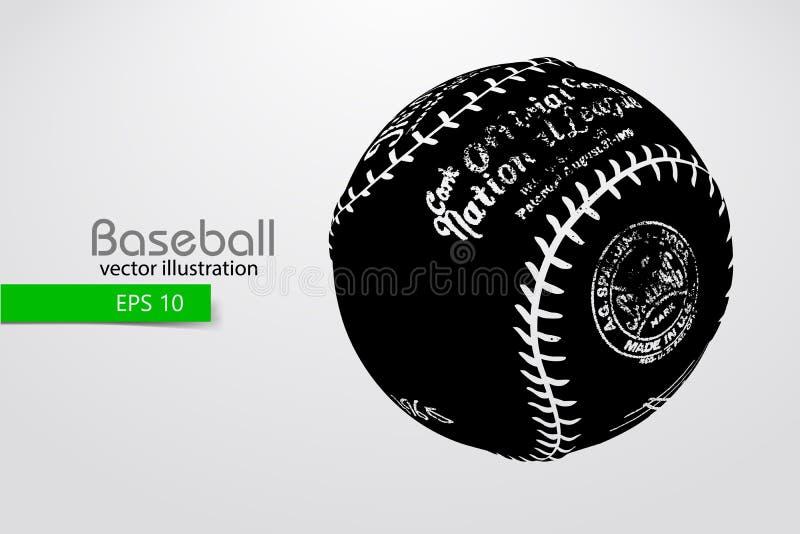 Sylwetka baseball piłka również zwrócić corel ilustracji wektora ilustracja wektor