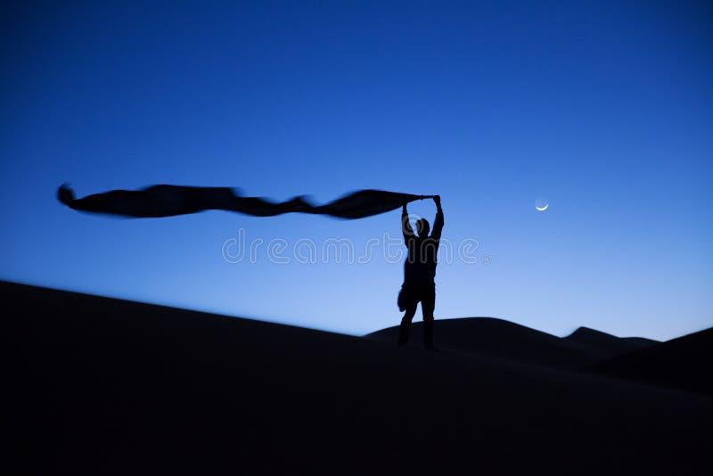 Sylwetka berber mężczyzna zdjęcie royalty free