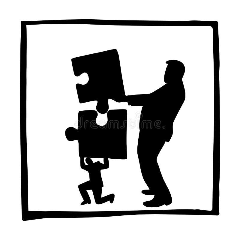Sylwetka biznesmen i ilustracji