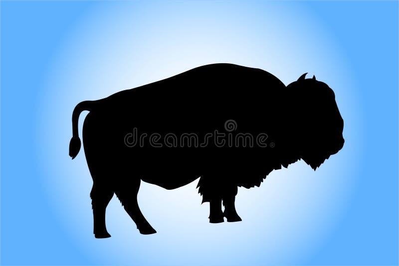 sylwetka bizony royalty ilustracja