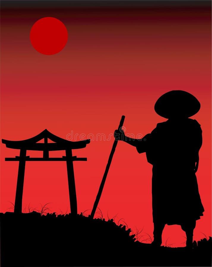 sylwetka chińska ilustracji