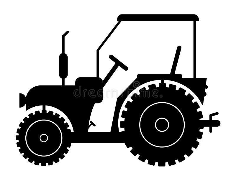 Sylwetka ciągnik na białym tle ilustracja wektor
