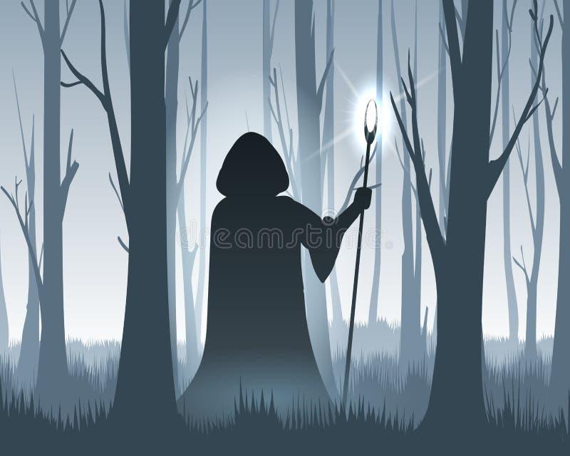 Sylwetka czarodziejska ilustracji