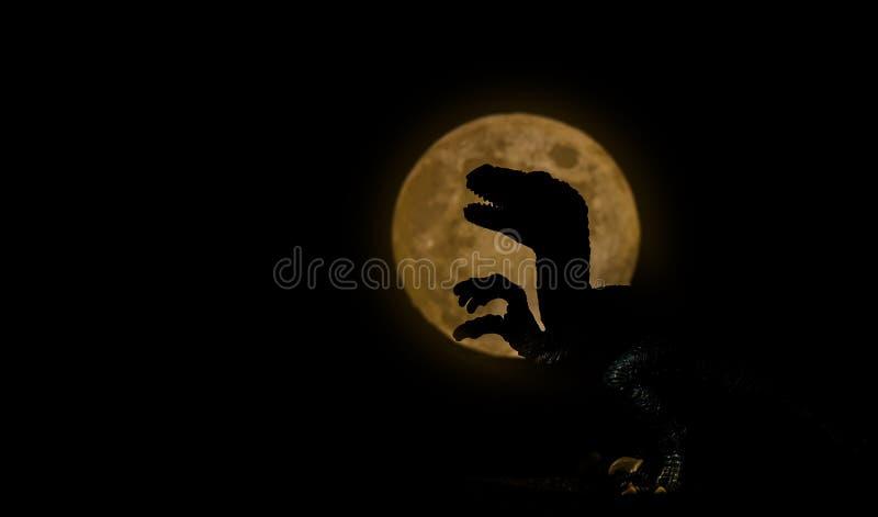 Sylwetka dinosaur fotografia royalty free
