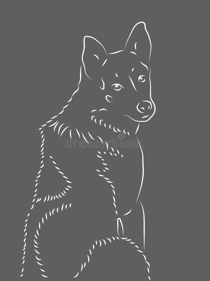Sylwetka dog2 royalty ilustracja