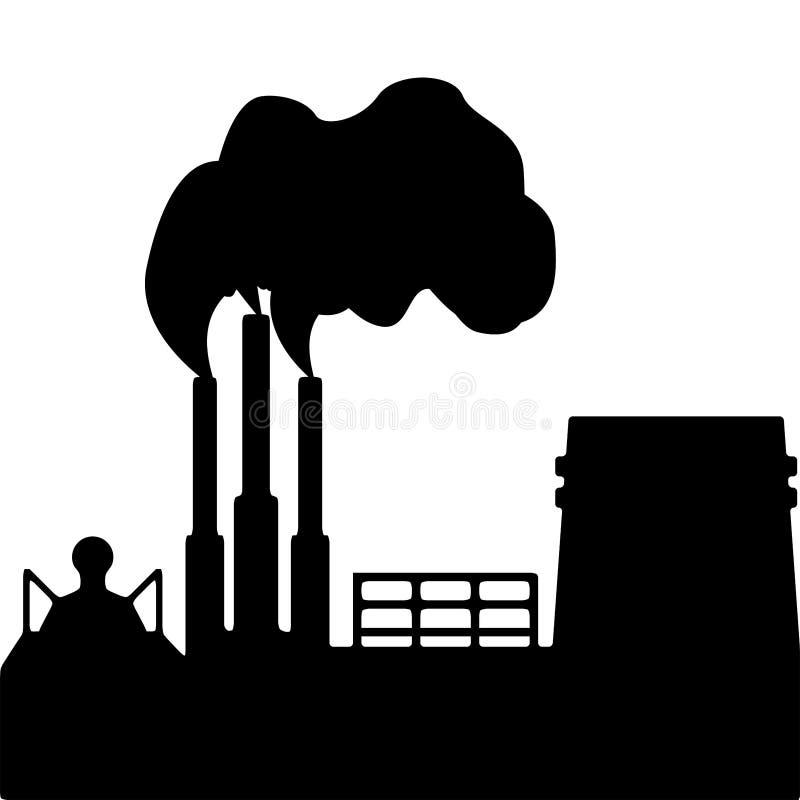 Sylwetka dymić przemysłowej rośliny kryzysu ekologiczny ?rodowiskowy fotografii zanieczyszczenie r?wnie? zwr?ci? corel ilustracji ilustracji