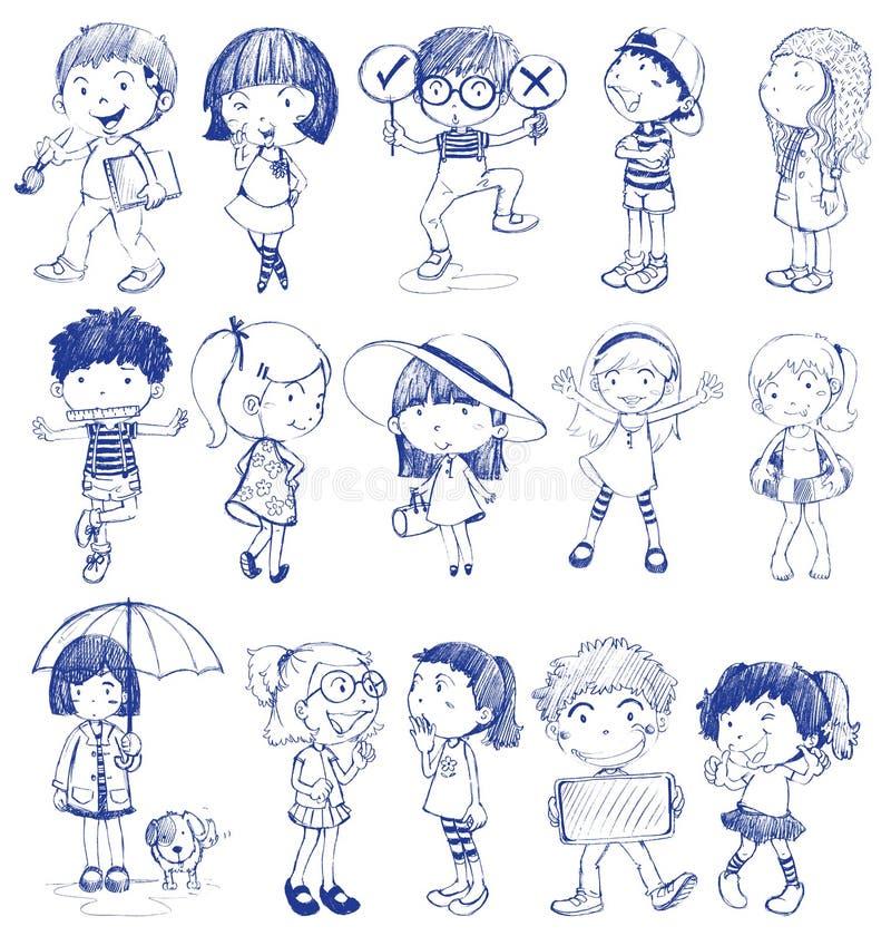 Sylwetka dzieciaki royalty ilustracja
