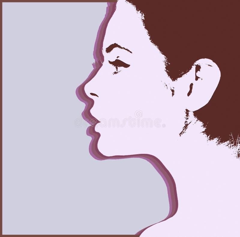 Sylwetka dziewczyna Kobieta profil royalty ilustracja