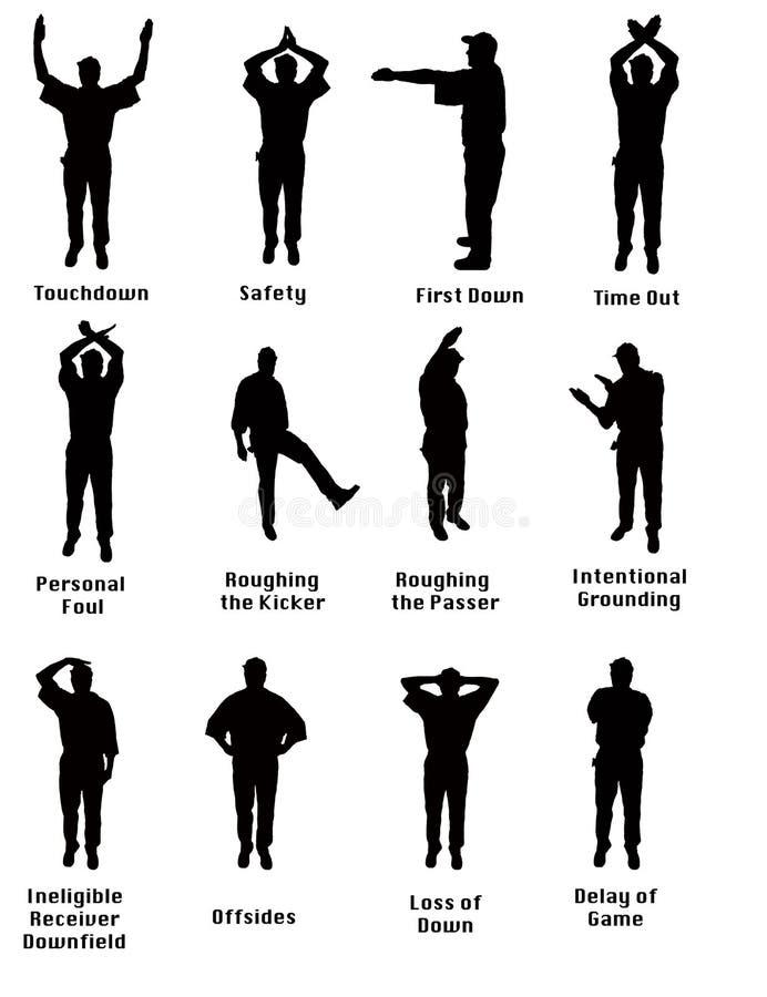 Sylwetka Futbolowi sygnały royalty ilustracja