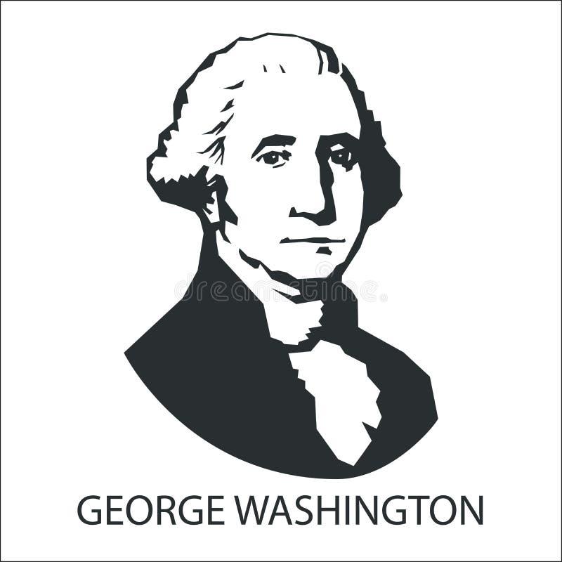 Sylwetka George Washington ilustracja wektor