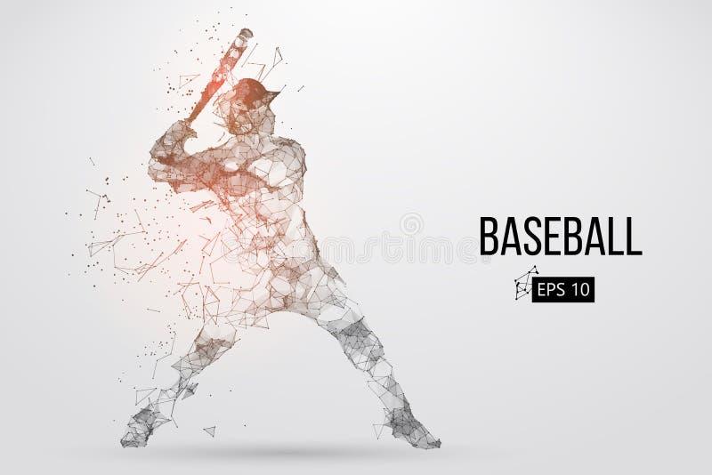 Sylwetka gracz baseballa również zwrócić corel ilustracji wektora
