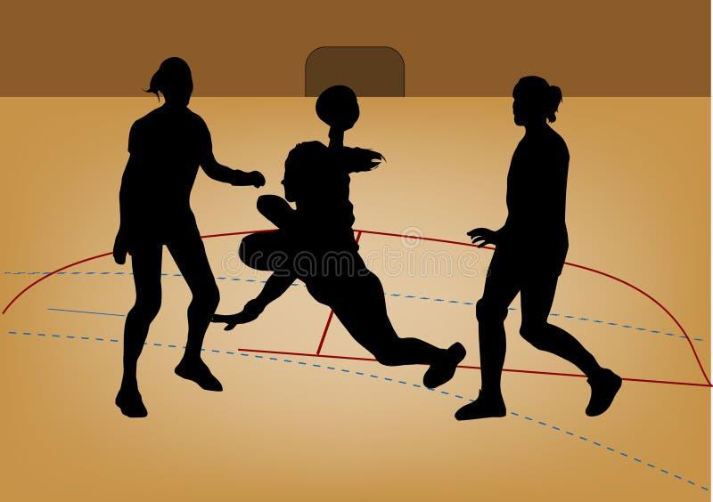 sylwetka gracza piłki ręcznej royalty ilustracja