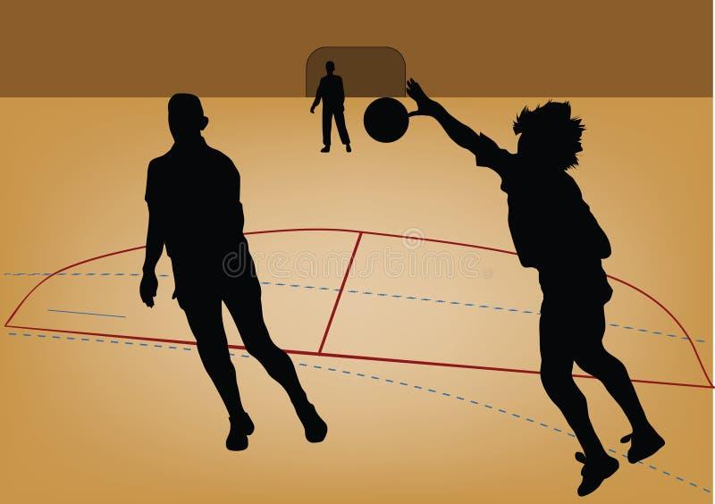 sylwetka gracza piłki ręcznej ilustracja wektor