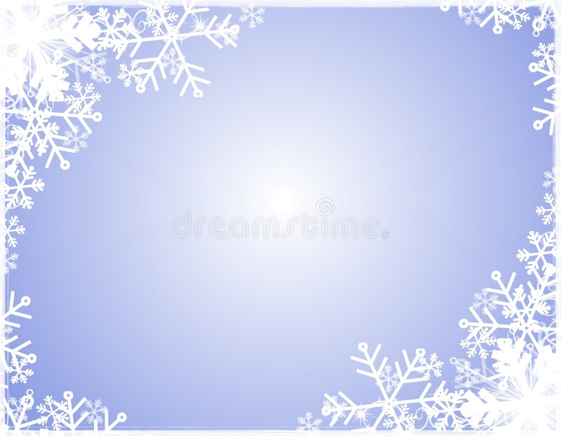 sylwetka graniczny płatek śniegu ilustracji