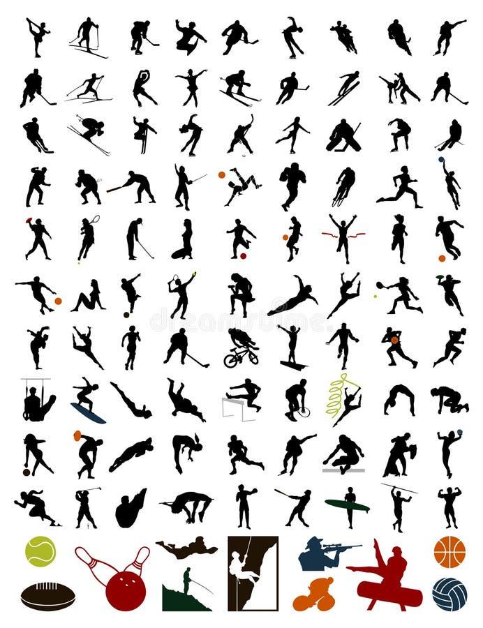 sylwetka inkasowi sportowowie obraz royalty free
