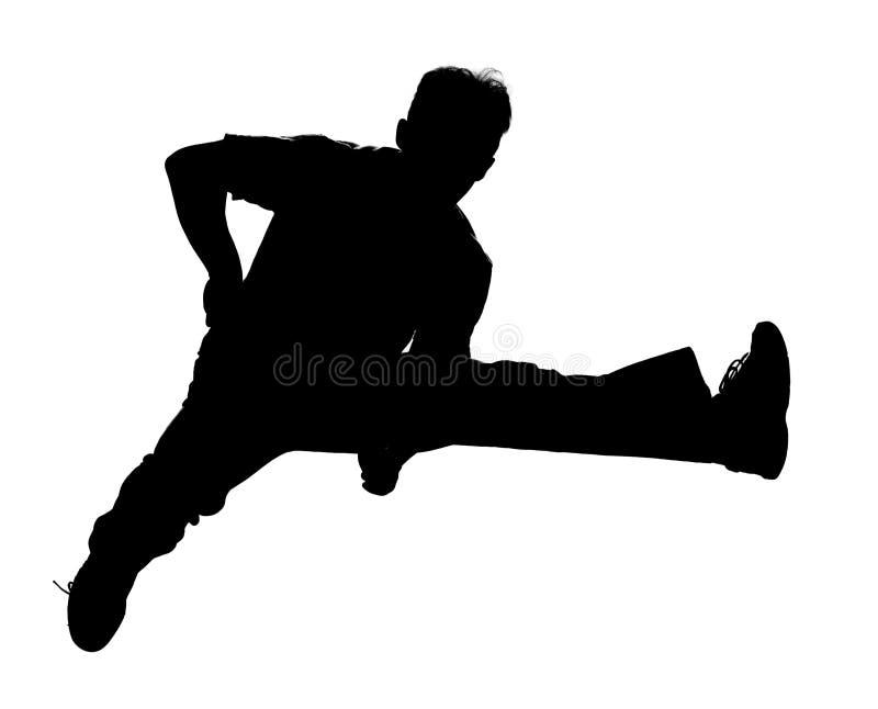 sylwetka jumping royalty ilustracja