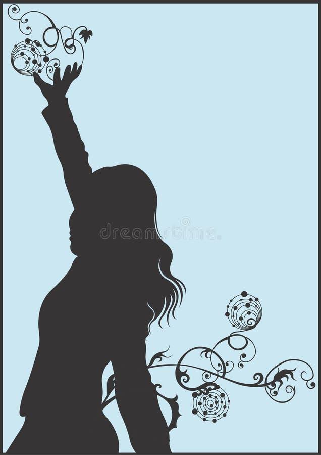 sylwetka kobiecej royalty ilustracja