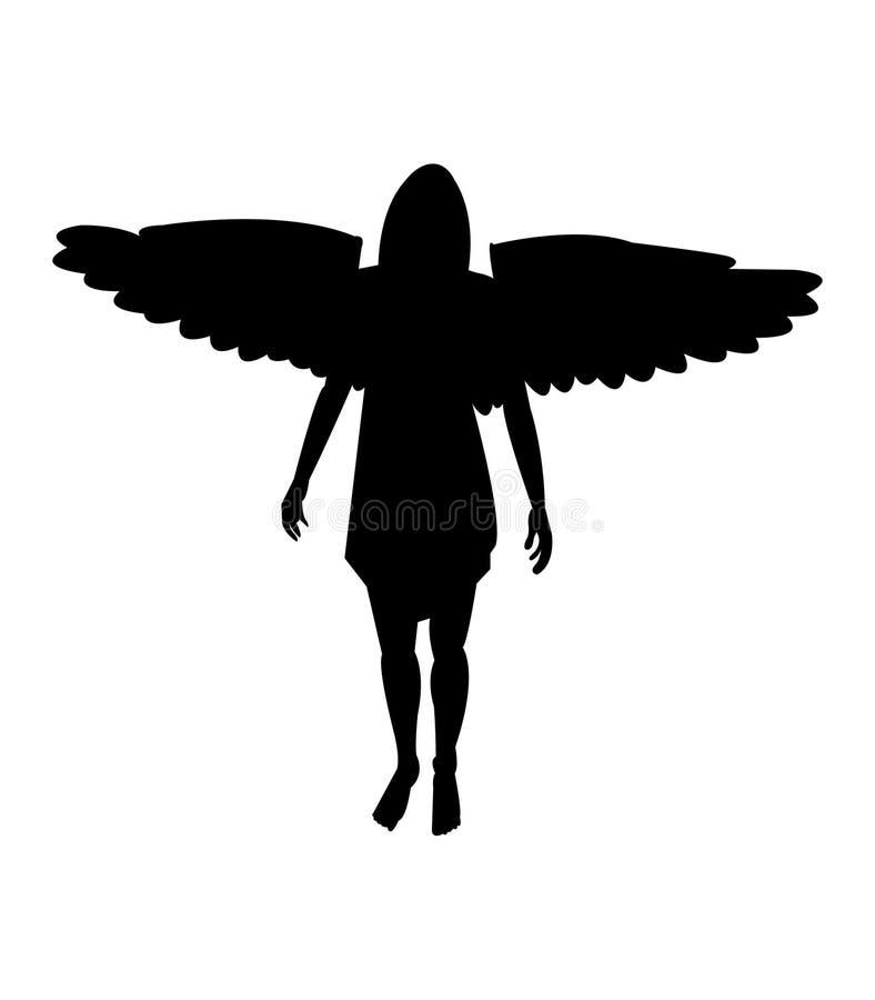 Sylwetka kobieta anioł ilustracji