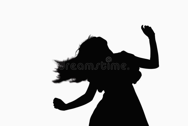 Sylwetka kobieta taniec. obraz royalty free