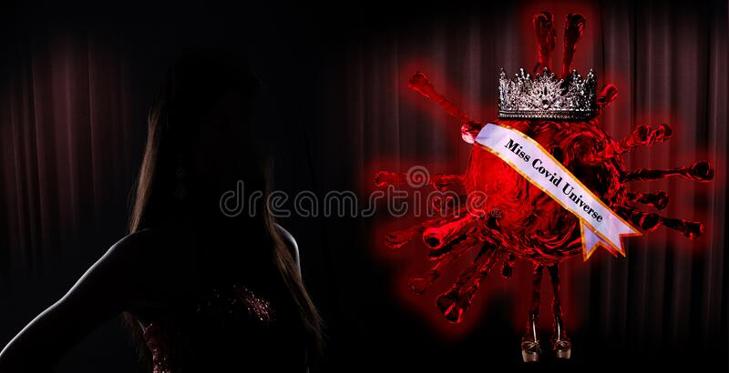 Sylwetka konkursu Miss Pageant z Diamond Crown obraz royalty free