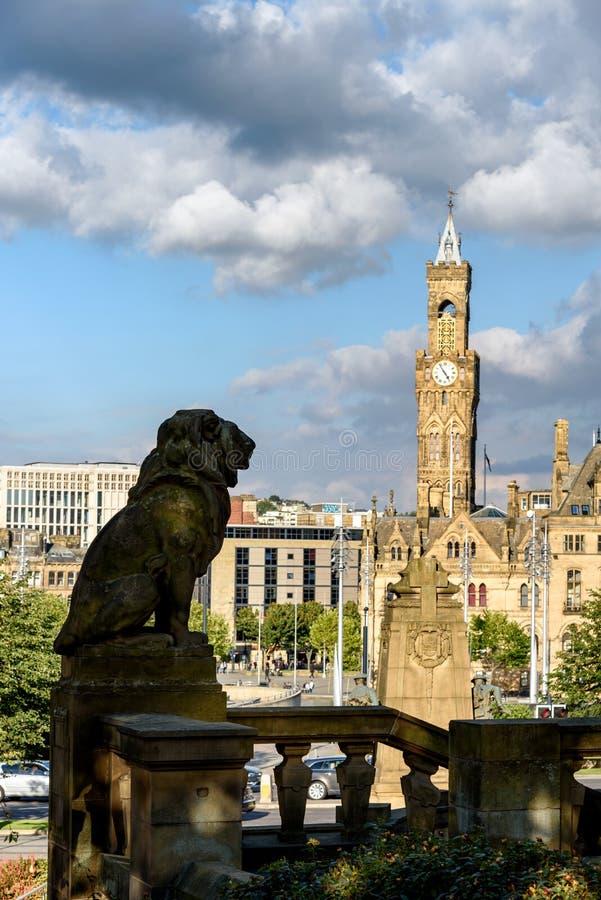 Sylwetka lew Bradford UK zdjęcie stock