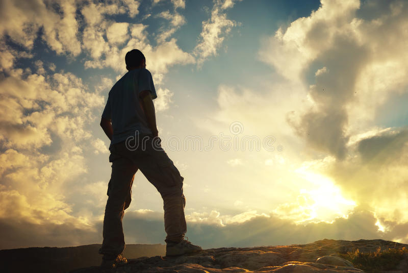 Download Sylwetka mężczyzna zdjęcie stock. Obraz złożonej z ekstremum - 57658420