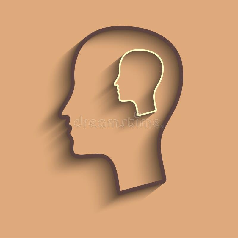 Sylwetka mężczyzna głowa ilustracja wektor