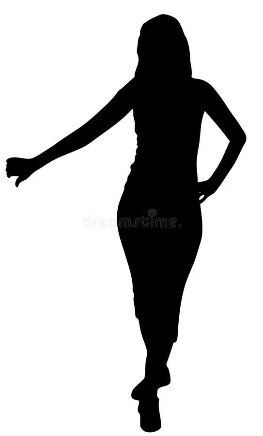Sylwetka młoda kobieta ilustracji