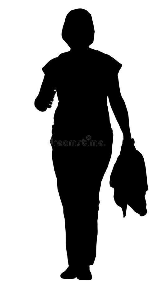 Sylwetka młoda kobieta ilustracja wektor