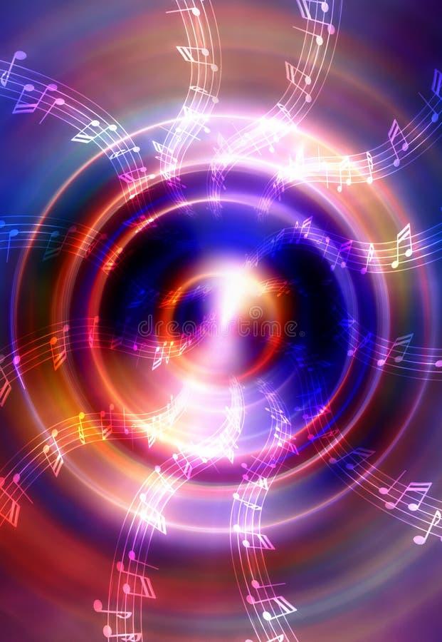 Sylwetka muzyczny Audio mówca i notatka royalty ilustracja