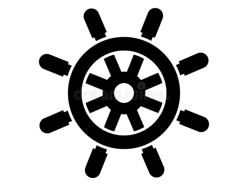Sylwetka obrazek połowu rudder ilustracja wektor