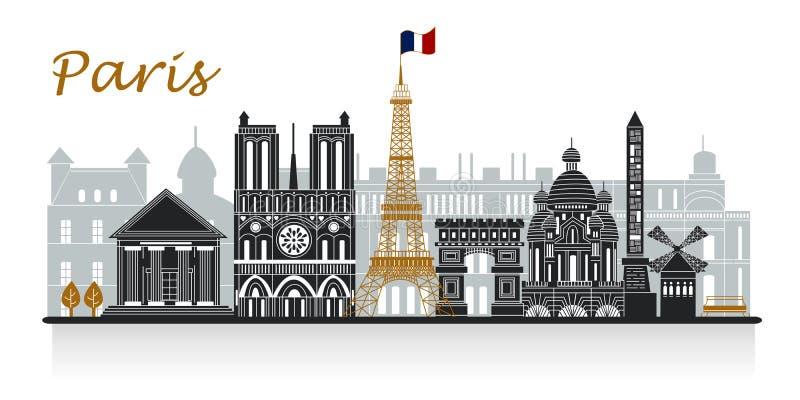 Sylwetka Paris royalty ilustracja