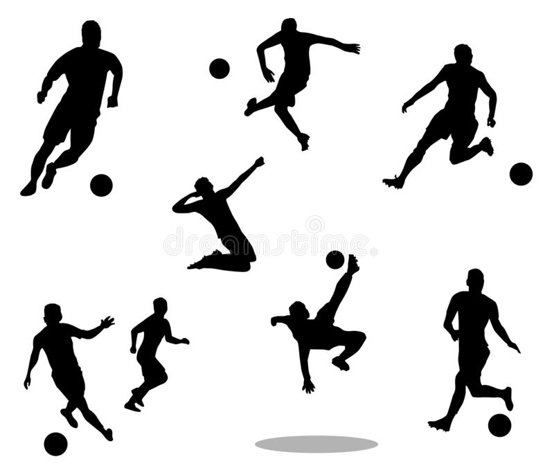 Sylwetka piłka nożna players-1 zdjęcie royalty free