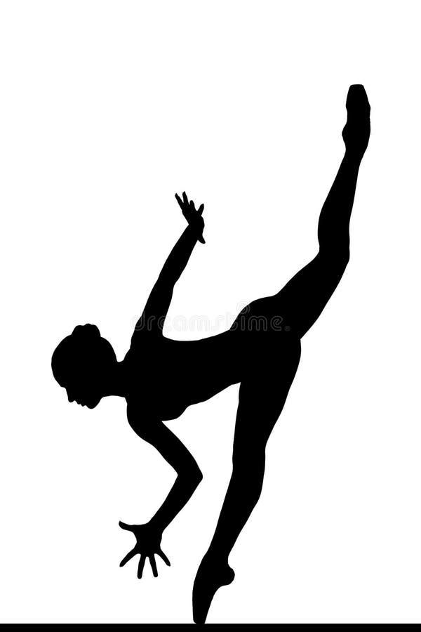 Sylwetka pozuje balerina obraz royalty free