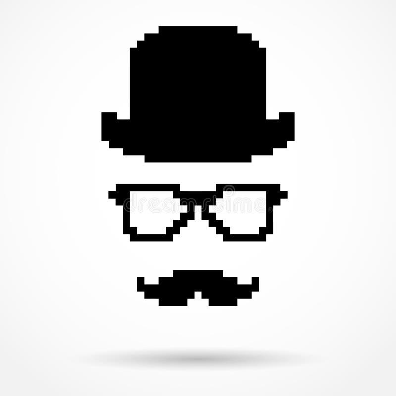 Sylwetka prosty symbol detektyw ilustracji
