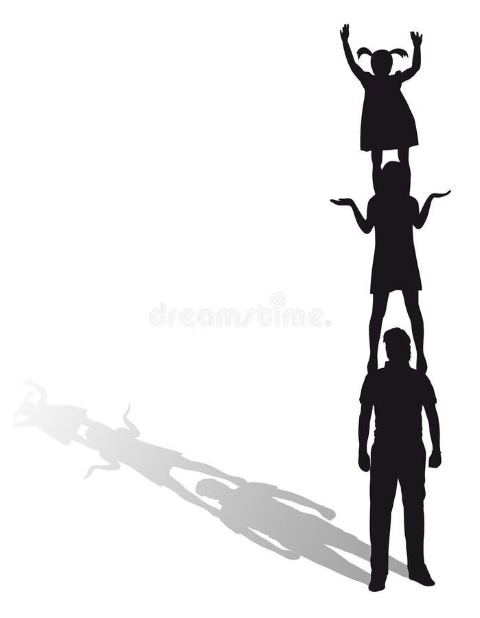 sylwetka rodzinna ilustracji