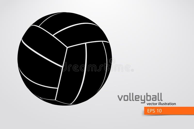 Sylwetka siatkówki piłka