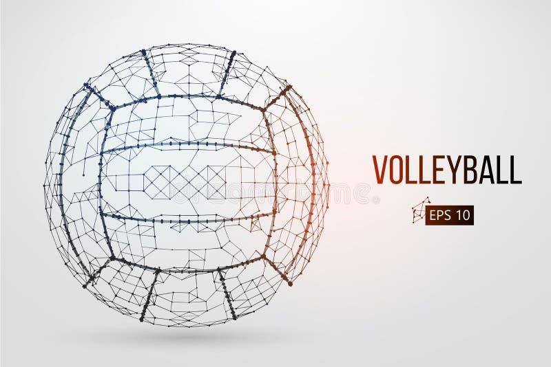Sylwetka siatkówki piłka również zwrócić corel ilustracji wektora