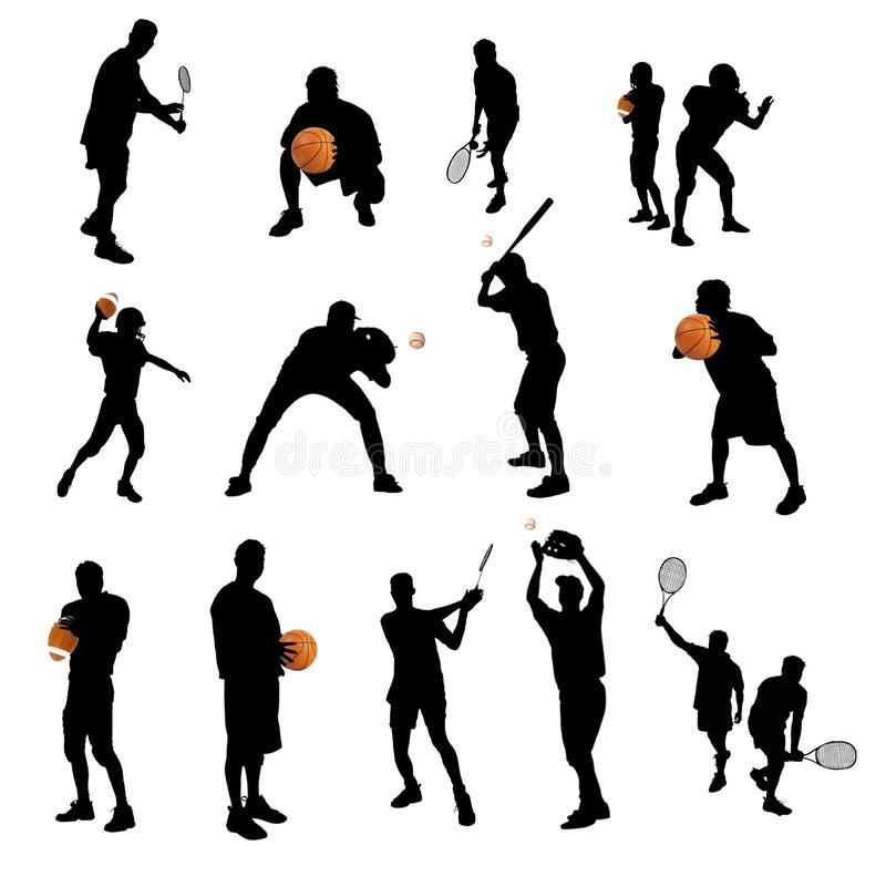 sylwetka sporty ilustracja wektor