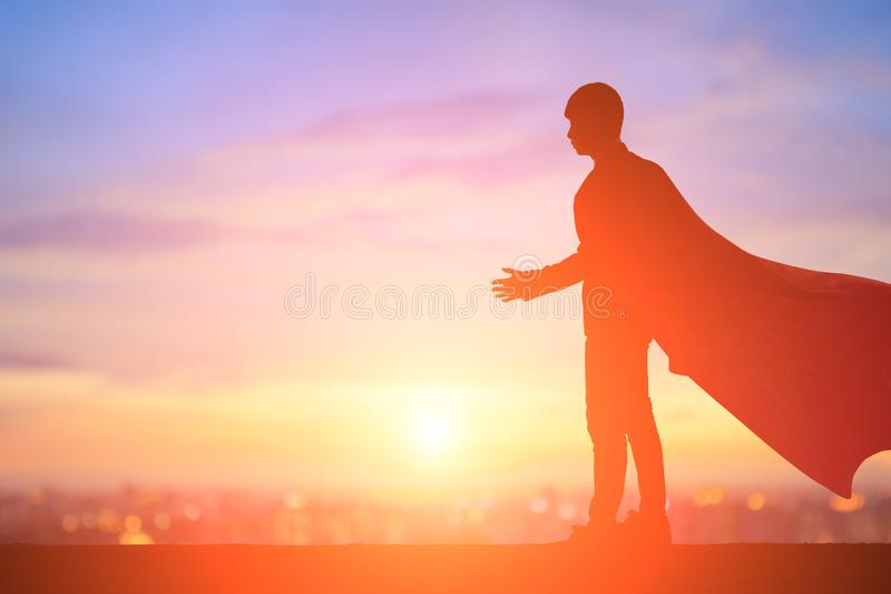 Sylwetka super biznesmen zdjęcie royalty free