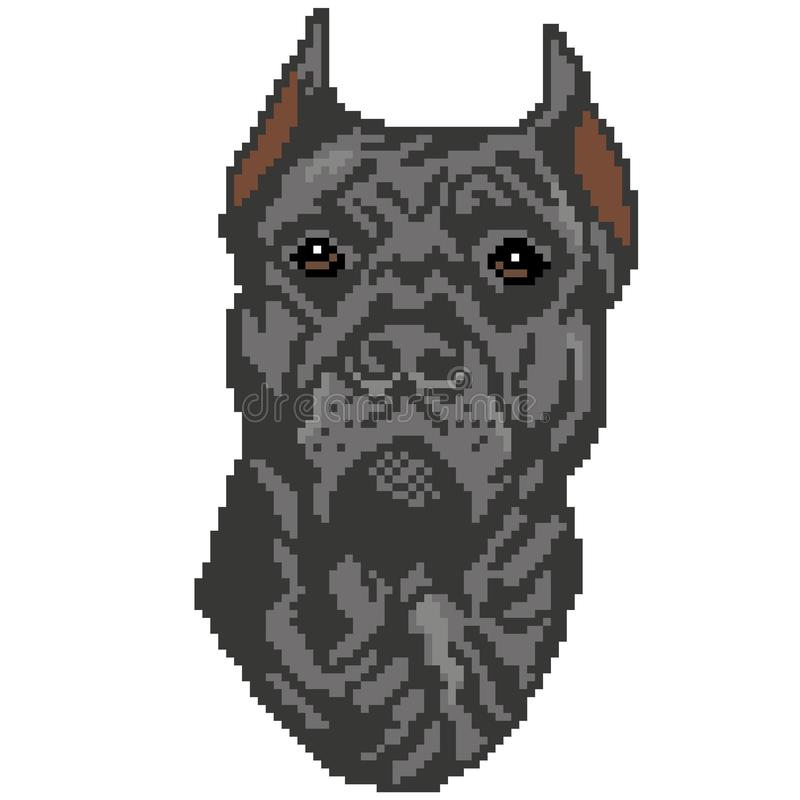 Sylwetka szary psi traken rysuje w postaci kwadrat ilustracji