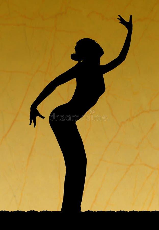 sylwetka tańca zdjęcie stock