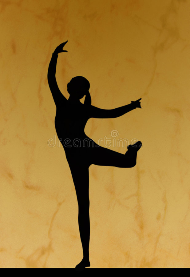 sylwetka tańca ilustracja wektor
